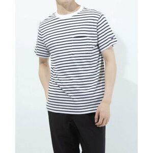 チャンピオン Champion メンズ 半袖Tシャツ BORDER SHORT SLEEVE T-SHIRT C3-T303 (ホワイト)