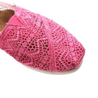 【アウトレット】トムズ TOMS CHAPTER WOMENS-SEASONAL CLASSICS(Fuschia Dip-Dyed Crochet)
