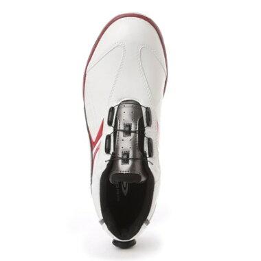 ティゴラ TIGORA ダイヤル式ゴルフシューズ TR-OS1015WR 381 ホワイト (ホワイト×レッド)