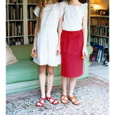 【アウトレット】フェリシモサーカス FelissimoCircus きれい色のタイトスカート (レッド)