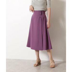 サイドボタンフレアスカート《S Size Line》 パープル