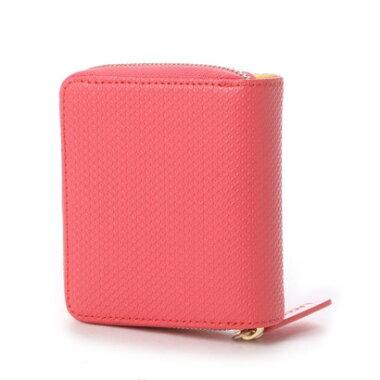 ラコステ LACOSTE CHANTACO 2つ折りラウンドファスナー財布 (ピンク)