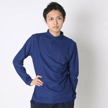 デサントゴルフ DESCENTE GOLF ゴルフシャツ 長袖ニットシャツ DGM1026S (アイイロブルー)