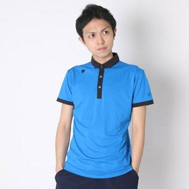 デサントゴルフ DESCENTE GOLF ゴルフシャツ 半袖ニットシャツ DGM1556S (オーシャンブルー)