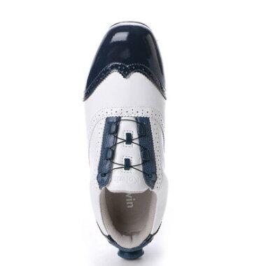 コルウィン Kolwin レディース ゴルフ ダイヤル式スパイクシューズ 0416176126 458 (ホワイト)