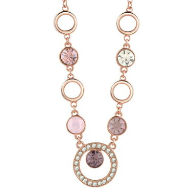 【アウトレット】ゲス GUESS 5 STONE CIRC NECKLACE ROSE GOLD