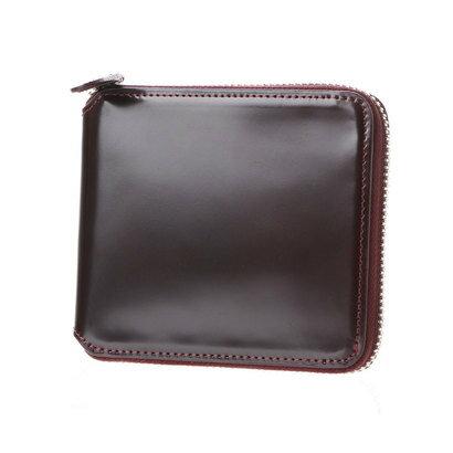 8804f870f608 フライングホース FLYING HORSE コードバンラウンドファスナー二つ折り財布 ブーツ (バーガンディ):