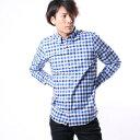 【アウトレット】トミーヒルフィガー TOMMY HILFIGER マルチギンガムチェックシャツ (ブルー)