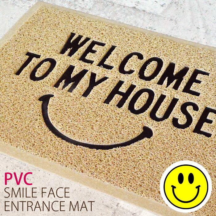 玄関マット 屋外 室内 薄型 スリム おしゃれ PVC エントランスマット ドアマット シンプル かわいい
