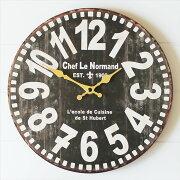 ブラック 掛け時計 ウォール クロック インテリア アンティーク ビンテージ おしゃれ
