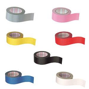 セキスイ カラー布テープ#600V 黒 白 赤 黄 青 ピンク 緑 銀 50×25 1巻 【梱包 ...