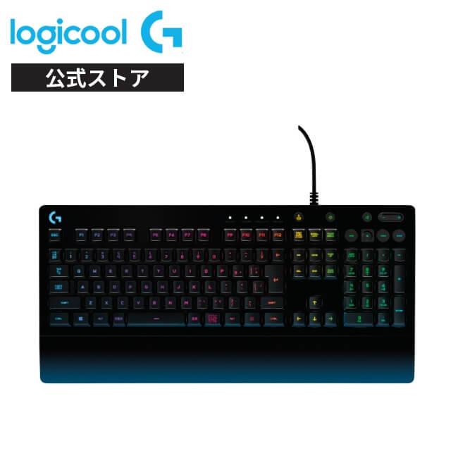 Logicool G ゲーミングキーボード 有線 G213 パームレスト 日本語配列 メンブレン キーボード 静音 LIGHTSYNC RGB 国内正規品 2年間無償保証画像
