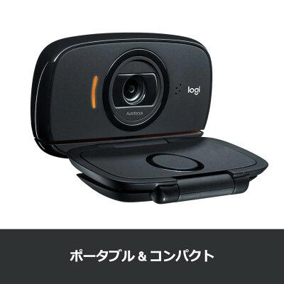 ロジクール ウェブカメラ C525n HD 720P ウェブカム ストリーミング ウェブ会議 テレワーク リモートワーク 折り畳み式 360度回転 WEBカメラ ブラック 国内正規品 2年間メーカー保証 マイク内蔵・・・ 画像1