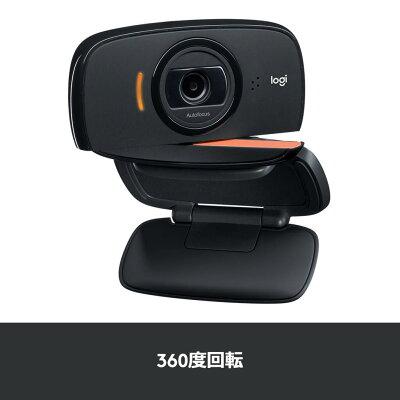 ロジクール ウェブカメラ C525n HD 720P ウェブカム ストリーミング ウェブ会議 テレワーク リモートワーク 折り畳み式 360度回転 WEBカメラ ブラック 国内正規品 2年間メーカー保証 マイク内蔵・・・ 画像2