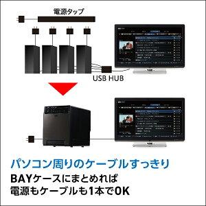 ロジテックHDDケース(ハードディスクケース)4BAY3.5インチ外付RAID機能なしUSB3.1(Gen1)/USB3.0eSATAハードディスクケース【LHR-4BNHEU3】
