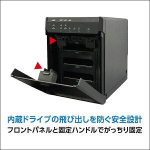【Windows10対応】【LHR-4BNHEU3】ガチャベイシリーズ4BAY外付型3.5インチハードディスクケース【WEB限定品】hddケース
