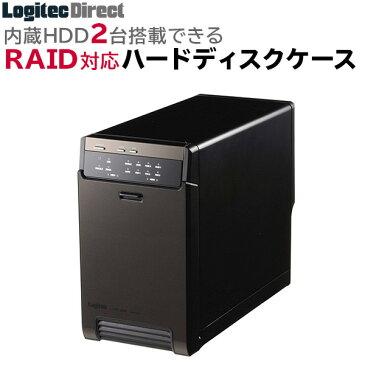 ロジテック HDDケース(ハードディスクケース) 2BAY 3.5インチ 外付 RAID機能搭載 USB3.1(Gen1) / USB3.0 eSATAWindows10対応 【LHR-2BRHEU3】 [macOS Big Sur 11.0 対応確認済] hdc