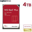 WD Red Plus 内蔵ハードディスク HDD 4TB 3.5インチ ロジテックの保証・無償ダウンロード可能なソフト付 ウエデジ 後継モデル 【LHD-WD40EFZX】 特選品・・・