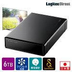 ロジテックSeeQVault対応外付けHDDハードディスク6TBテレビ録画テレビレコーダーシーキューボルト3.5インチUSB3.2Gen1(USB3.0)【LHD-ENB060U3QW】