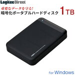 《WEB直販限定》WDBlue搭載USB3.0耐衝撃暗号化ポータブルハードディスク1TB【LHD-PBM10U3BS】