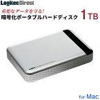 ロジテック Mac専用 ポータブル ハードウェア暗号化 セキュリティ ハードディスク HDD 耐衝撃 1TB USB3.1(Gen1) / USB3.0 Type-C対応 PCで録画番組が見れるソフト 国産 【LHD-PBM10U3BSM】