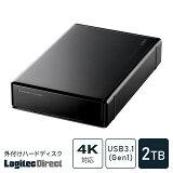 ハードディスク HDD 2TB 外付け 3.5インチ USB2.0 テレビ録画 国産 省エネ静音 WD Blue搭載 ロジテック製【LHD-ENA020U2W】