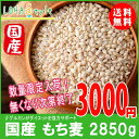 もち麦 国産 2850g(950g×3袋) モチプリで美味しく健康生活 ご飯に混ぜる麦 LOHASt...