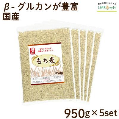 もち麦国産4750g(950g×5袋)モチプリで美味しく健康生活LOHAStyle