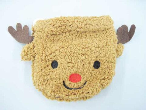 プレゼントオーナメント (トナカイ)巾着袋 プレゼント用  幼稚園 保育園 小学校 クリスマス会