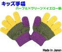キッズ 手袋 (パープル×グリーン×イエロー) 子供手袋 子供用手袋 おしゃれ ザジーザップス ZazzyZaps クリスマス プレゼント 入園 入学