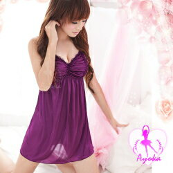 【Ayoka】980円ランジェリー!!当店イチオシの紫サテンのセクシーランジェリー♪+゜楽天ランキン...
