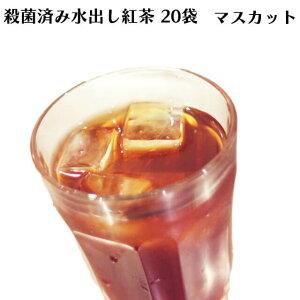 ロンドンティールームの殺菌済み水出し紅茶 マスカット(20ティーバッグ入)【アイスティー】【角型】