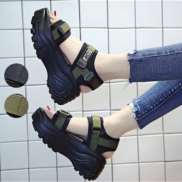 短納期スポーツサンダル厚底レディース厚底サンダル7cmコンフォートサンダルビーチサンダル軽量レディースビーチサンダル厚底靴靴ベル