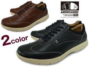 AMERICANINOEDWINアメリカニーノエドウィンae-823メンズ軽量カジュアルシューズスニーカーローカットBLACKDK.BROWNNAVYブラックブラウン靴くつ