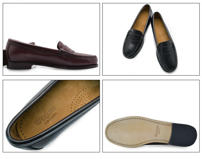 G.H.BassWEEJUNSWAYFARERバスウィージャンズウェイファーラーレディースローファー本革レザーコインローファーペニーローファー学生黒白通学学生靴革靴送料無料