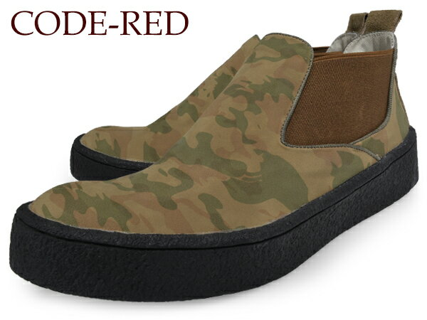 CODE-REDMENSSIDEGORESNEAKERBOOTSD359CAMOUFLAGEBROWNコードレッドメンズサイドゴアスニーカースニーカー迷彩サイドゴアカモフラージュブラウン茶色厚底靴シューズ送料無料