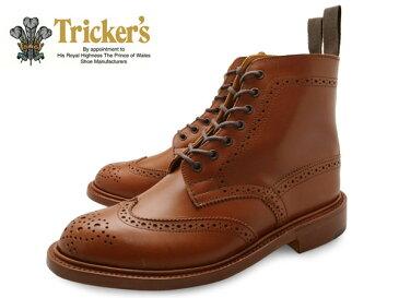 TRICKER'S Brogue Shoes MALTON COUNTRY BOOT l5180 Marron Antique BROWN トリッカーズ レディース カントリーブーツ ウイングチップブーツ マートン レッドブラウン TRICKERS 赤 茶 レッド ブラウン ブランド 送料無料