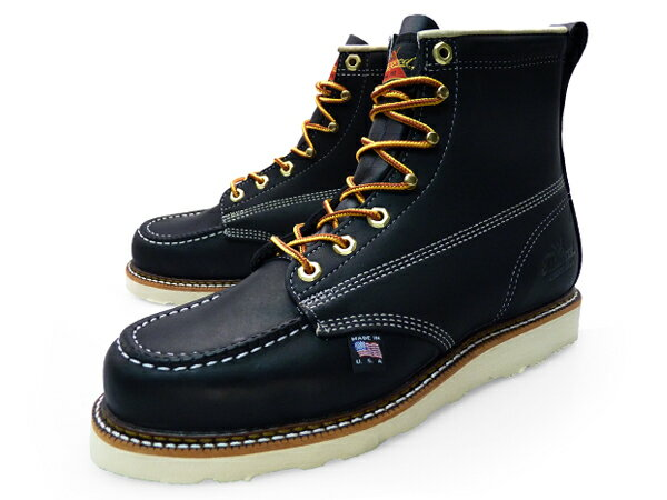 Black Leather Work Boots - Cr Boot