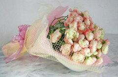 20%OFF 優しいアンティークピンクの丸いバラ【ピンクオールドローズの花束】 【10P06Apr11】