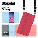 LOOF Strap Galaxy A41 S20 ケース クラッチバッグ風 ストラップ S10 S10+ スマホカバー A20 ……