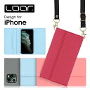 LOOF Strap iPhone 12 ケース iPhone 11 Pro Max 手帳型ケース クラッチバッグ風 ストラップ X……