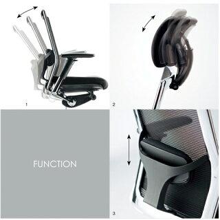 ★送料無料★エルゴノミクスチェアメッシュチェアミドルバック可動肘付キャスター付布張りオフィスチェアエグゼクティブチェア事務用椅子AR-5305