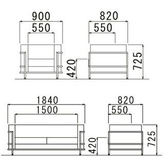 ★45%OFF★応接セット3点応接家具セットビニールレザー張りアームチェア3人掛けソファ来客用オフィス家具応接室高級ソファセットモダンRE-3363S3