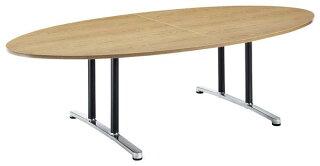 会議テーブルWAL-2412E机デスクタマゴ型幅240