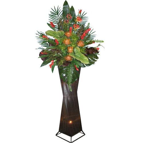 ★送料無料★アートフラワー M-026 贈答用 お祝い 大型 高級 花:LOOKIT オフィス家具 インテリア