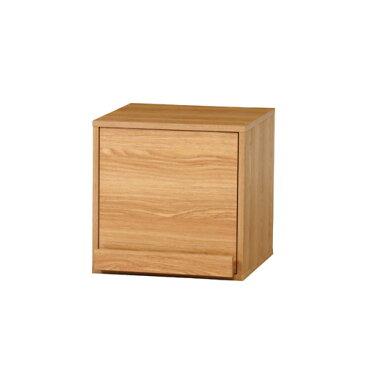 収納ボックス マガジン引き出し付 本立て付き 幅390mm 奥行435mm 高さ390mm ナチュラル ブラウン かわいい 扉付き ラック キューブボックス DICE-M