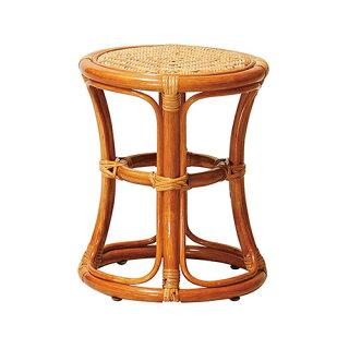 ラタンスツール腰掛けチェアいすリビング居間ラウンジ客室休憩所洋風手造りR-ST38