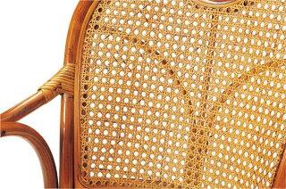 ★58%OFF★ラタンチェアKR-440S回転椅子いすイス肘付藤