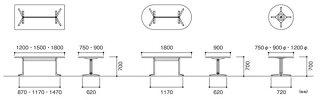 ミーティングテーブルCHY-1875K高級休憩室人気