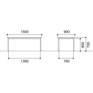 ★新品★会議テーブル1590机角型会議オフィスNAWB-1590K